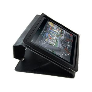 Carrying case for iPad 2 Logic3 Leather Case Stand Black