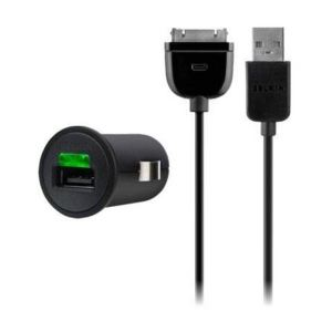 Car charger for iPod Belkin Micro Auto Charger w/charge Sync Cable