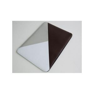 Carrying case for iPad 2 De-sign Fitcase Leather Brown-Grey-White