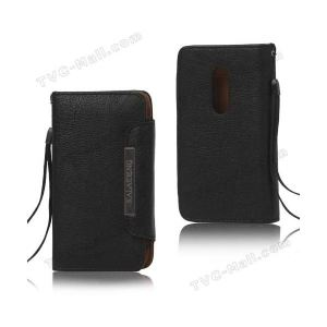 Carrying case for iPhone 5/5S Kalaideng Leather Black