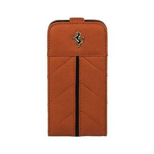Carrying case for iPhone 5/5S Ferrari California Series Flip-Case Brown