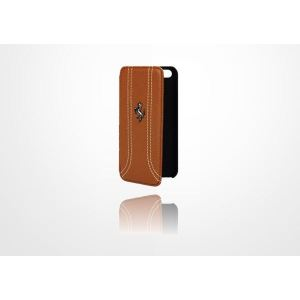 Carrying case for iPhone 5/5S Ferrari FF Series Book-Flip-Case Brown