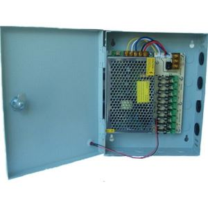 Power Supply 12V/10A 9-Channel fused box