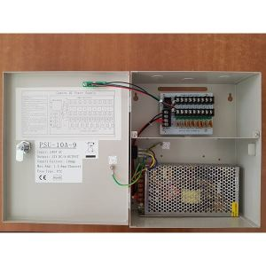 QVIS Power Supply 12V/10A 9-Channel box
