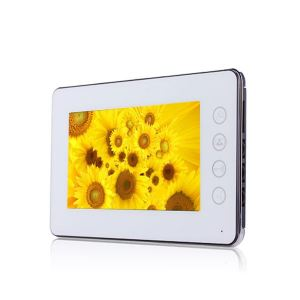 S-Tech Video Door Phone 8836MW Monitor Ultra Slim White