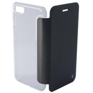 Carrying case for iPhone 8/7 KSIX Crystal Folio Case Black