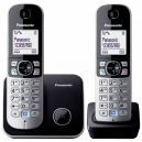 Panasonic Cordless Phone KX-TG6812 Black (Duo - 2 handsets)
