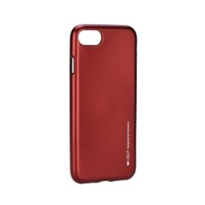 Carrying case for iPhone 8/7 I-Jelly TPU Case Red