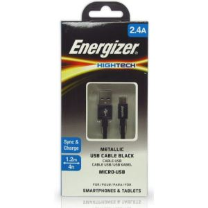 Data cable Energizer C13UBMCGBK4 Micro-USB Black