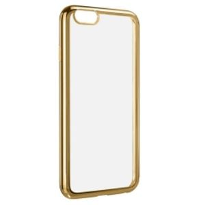 Carrying case for iPhone 6/6S/7/8 Senso TPU Clear Side Color Gold + Tempered Glass