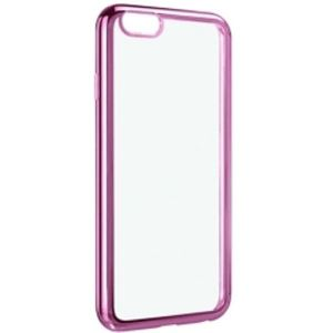 Carrying case for iPhone 6/6S/7/8 Senso TPU Clear Side Color Pink + Tempered Glass