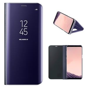 Original Carrying case Samsung G955 Galaxy S8 Plus EFZG955CVE Clear View Standing Cover Violet