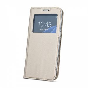 Carrying case for Samsung A520 Senso Book Window Magnetic Case Gold