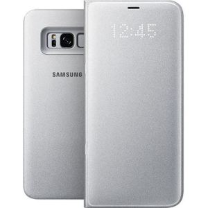 Original Carrying case Samsung G955 Galaxy S8 Plus EFNG955PSE LED View Cover Silver