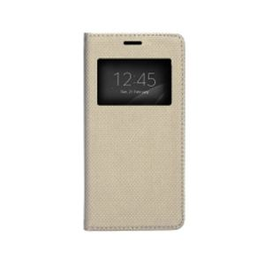 Carrying case for Samsung J530 Senso Book Window Dots Magnetic Case Gold