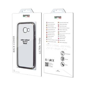 Carrying case for Samsung J320 Senso TPU Clear Side Color Black