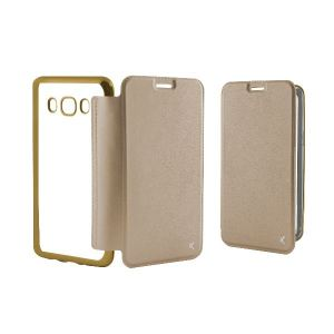 Carrying case for Samsung J710 KSIX Metal Folio Case Gold