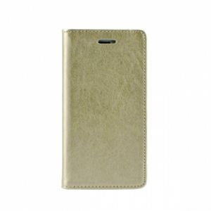 Carrying case for Huawei P10 Senso Leather Stand Book Magnet Case Gold
