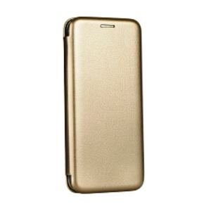 Carrying case for Huawei P10 Senso Oval Leather Stand Book Case Gold