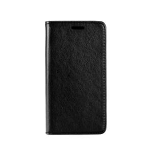 Carrying case for Samsung J530 Senso Leather Stand Book Magnet Case Black