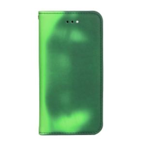 Carrying case for Samsung J530 Senso Book Chameleon Case Green
