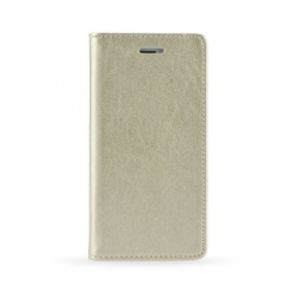 Carrying case for iPhone 8 Plus/7 Plus Senso Leather Book Magnet Case Gold