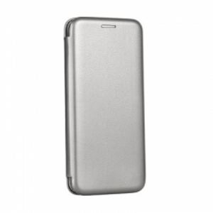 Carrying case for Samsung A530 A8(2018) Senso Oval Book Magnetic Case Titanium