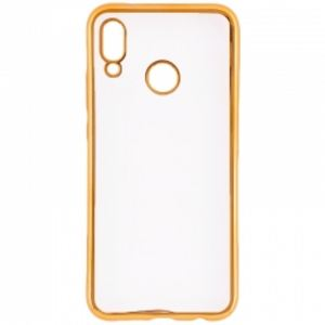 Carrying case for Huawei P20 Lite Senso TPU Clear Side Color Gold