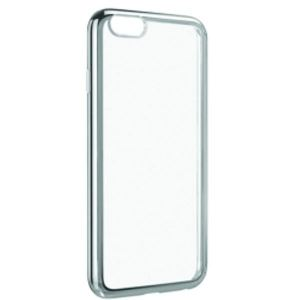 Carrying case for iPhone 6/6s Plus Senso TPU Clear Side Color Silver