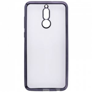 Carrying case for Huawei Mate 10 Lite Senso TPU Clear Side Color Black