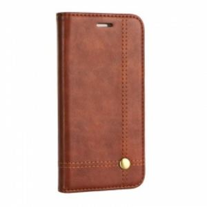Carrying case for Samsung A605 Senso Classic Leather Stand Book Magnet Case Brown