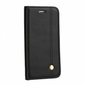 Carrying case for Samsung A605 Senso Classic Leather Stand Book Magnet Case Black