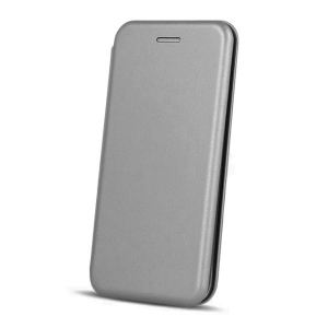 Carrying case for Samsung A605 Senso Oval Book Magnetic Case Titanium
