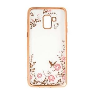 Carrying case for Samsung A605 Senso TPU Diamond Gold