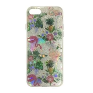 Carrying case for Samsung A530 iSelf TPU Flamingo Silver