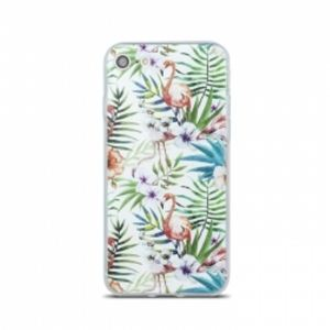Carrying case for iPhone 8/7 iSelf TPU Flamingo White
