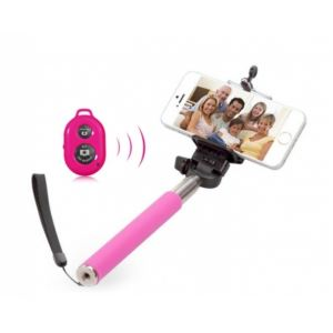 Monopod Selfie stick Blum with bluetooth control Pink