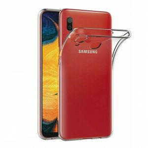 Carrying case for Samsung A202 A20e Senso TPU Clear